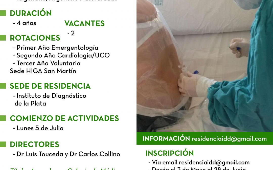 Residencia en Clínica Médica 2021 de Instituto de Diagnóstico La Plata